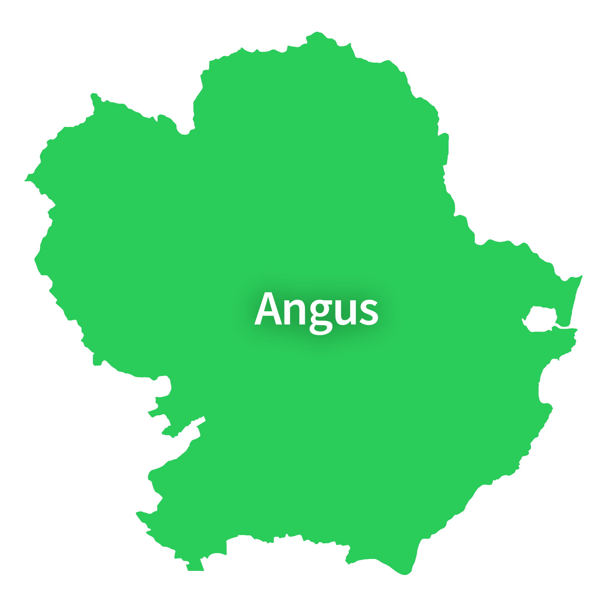 Map of Angus