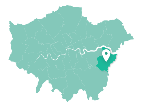 Map of Bexley within Greater London