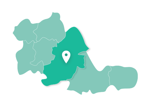 Map showing Birmingham within West Midlands