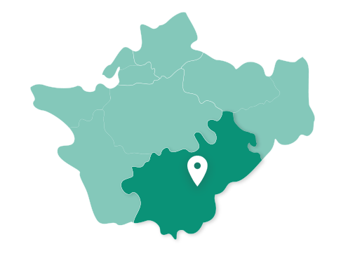 Map showing Crewe within Cheshire