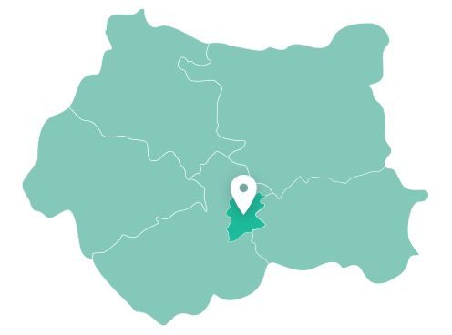 Map of Dewsbury within West Yorkshire