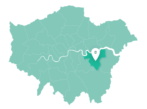 Map of Greenwich within Greater London