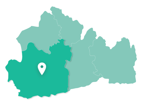 Map of Guildford within Surrey