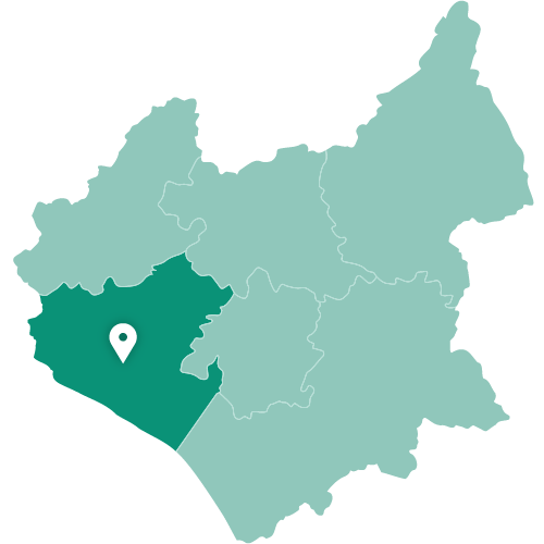 Map of Hinckley within Leicestershire
