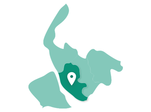 Map showing Liverpool within Merseyside