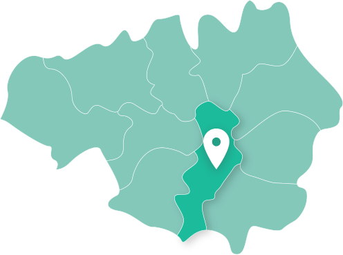 Map showing Manchester within Greater Manchester