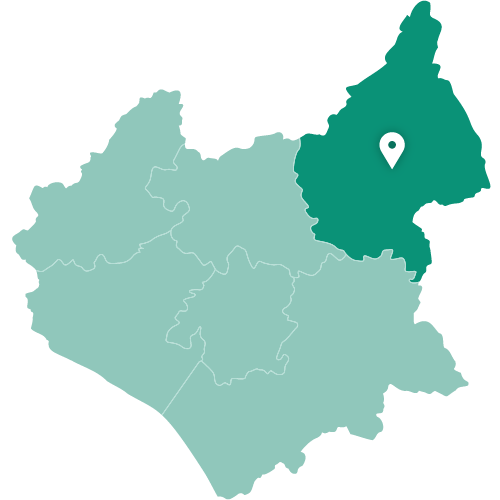 Map of Melton Mowbray within Leicestershire