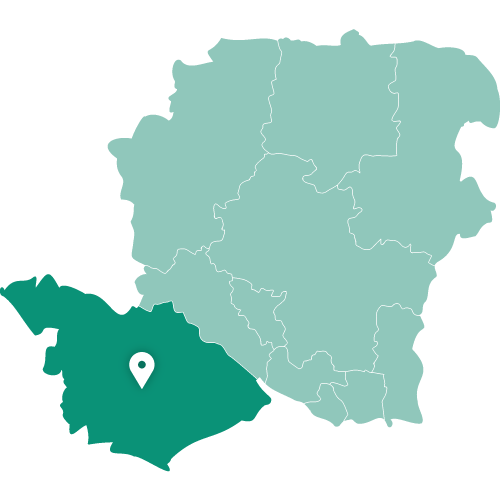 Map showing New Forest within Hampshire