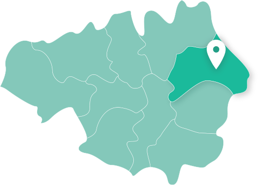 Map showing Oldham within Greater Manchester