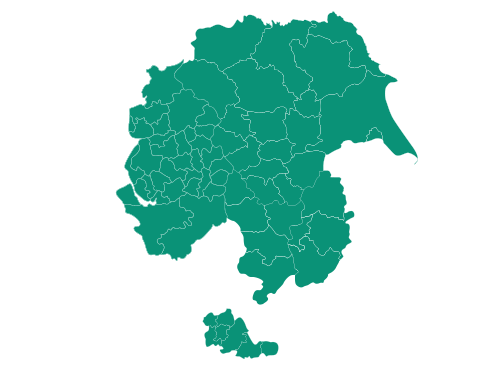 Map of Cheshire, Greater Manchester, Lancashire, Merseyside, West Midlands and Yorkshire