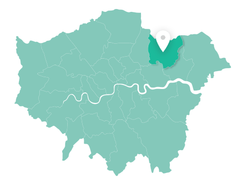 Map of Redbridge within Greater London