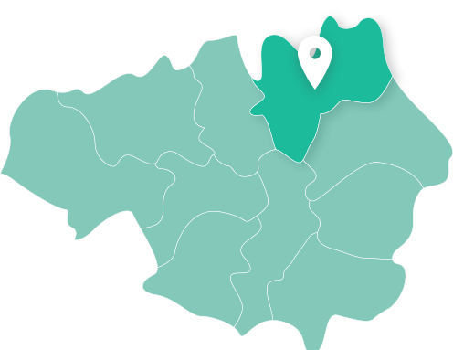 Map of Rochdale within Greater Manchester