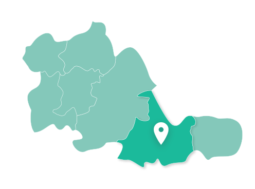 Map showing Solihull within West Midlands