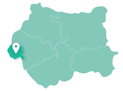 Map of Todmorden within West Yorkshire