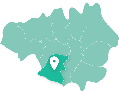 Map of Trafford within Greater Manchester