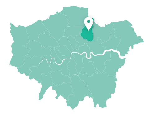 Map of Waltham Forest within Greater London