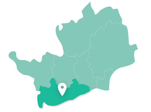 Map of Watford within Hertfordshire