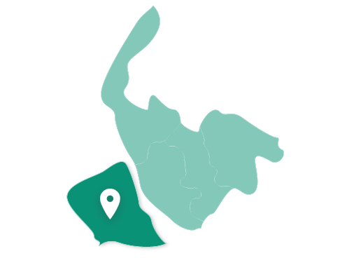Map showing Wirral within Merseyside