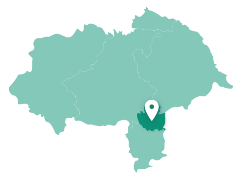 Map showing York within North Yorkshire