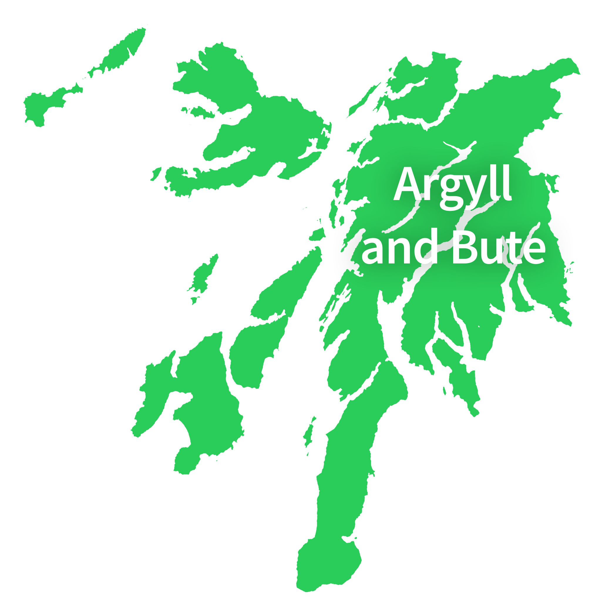 Map of Argyll and Bute
