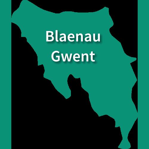 Map of Blaenau Gwent