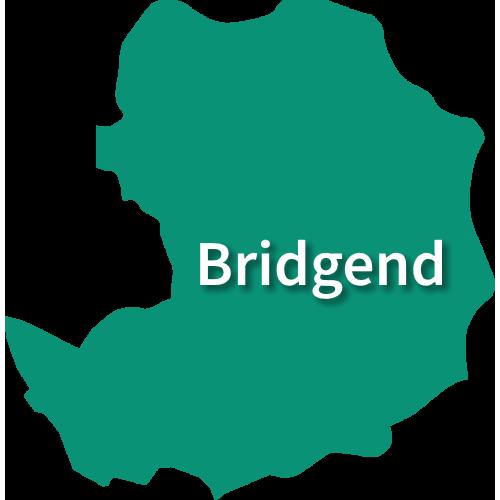 Map of Bridgend