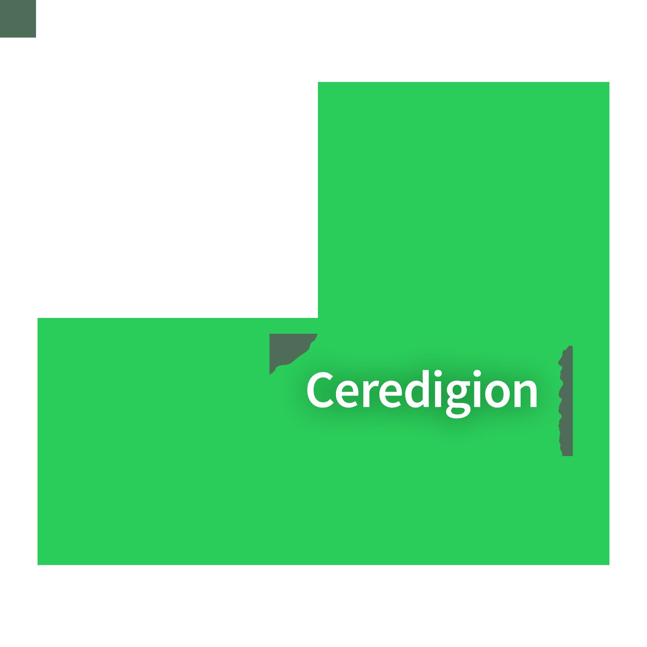 Map of Ceredigion