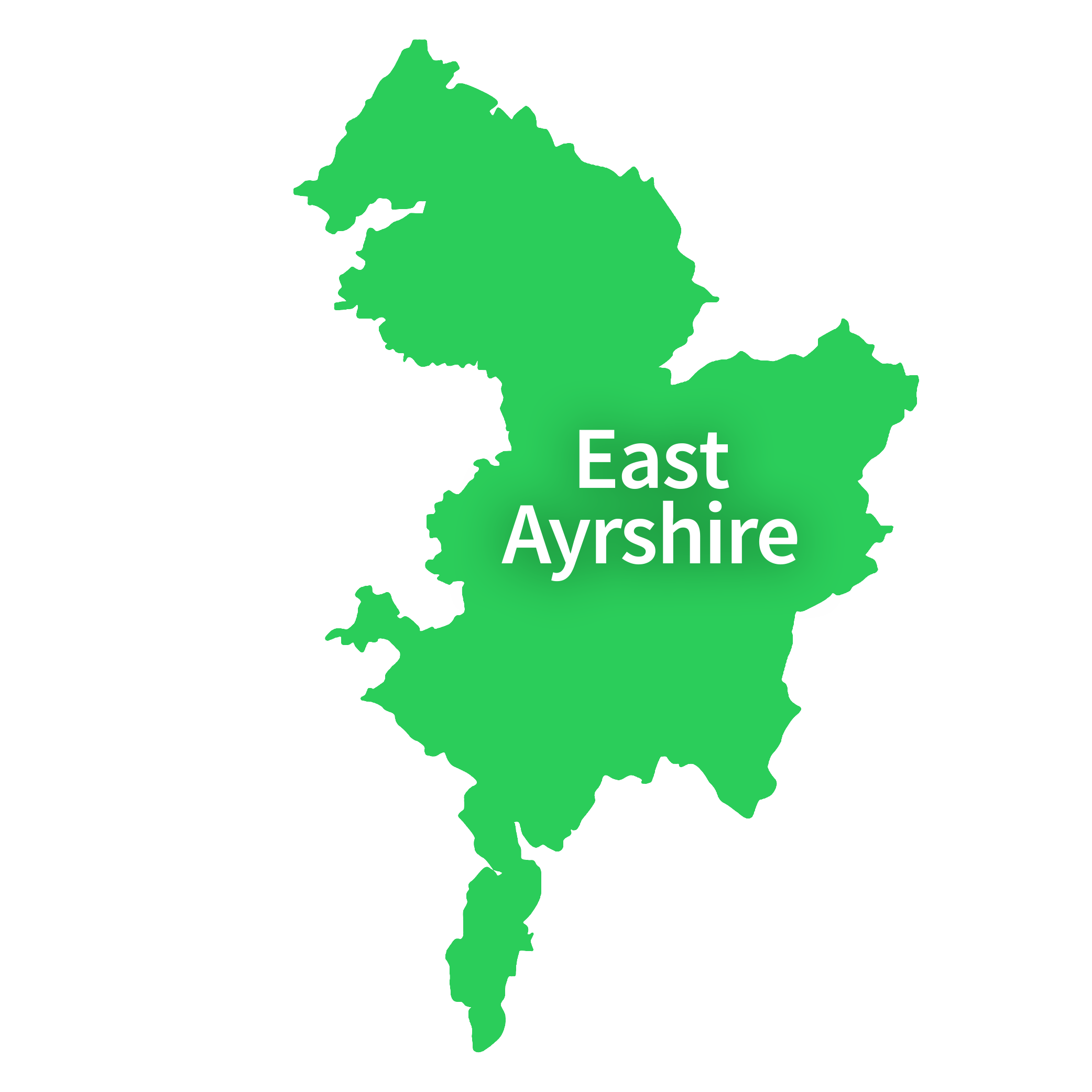 Map of East Ayrshire