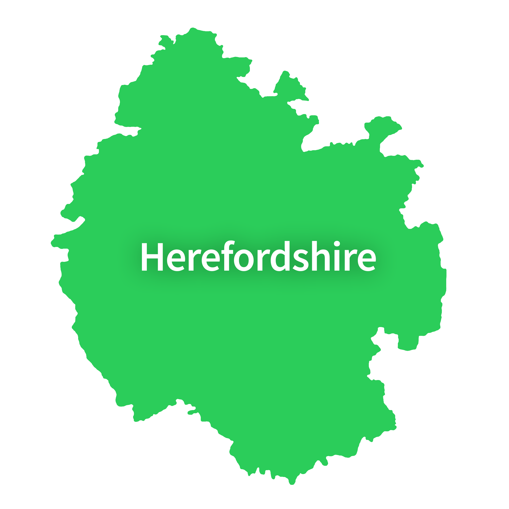 Map of Herefordshire