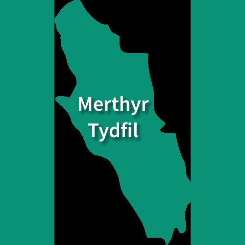 Map of Merthyr Tydfil