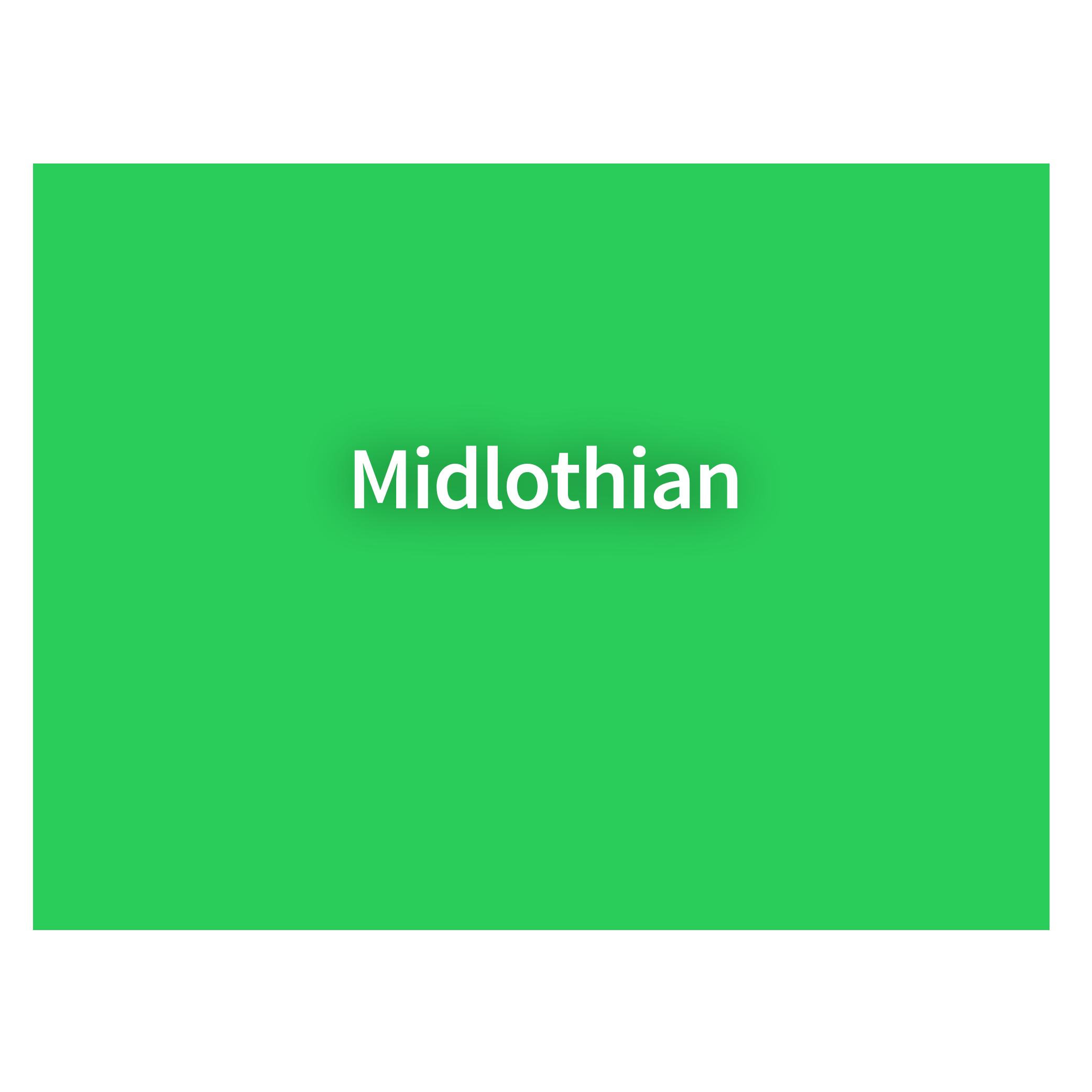 Map of Midlothian