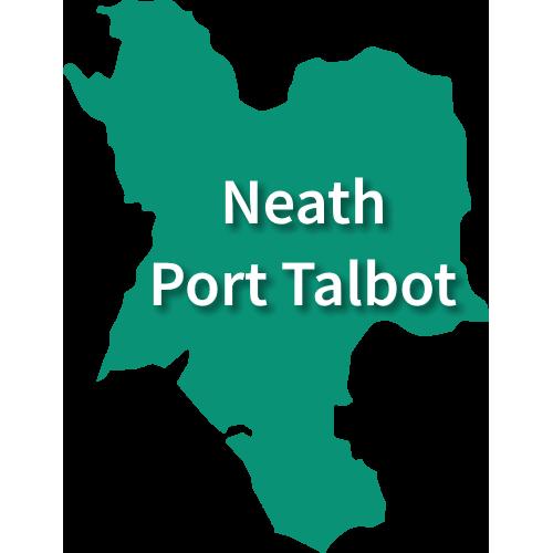 Map of Neath Port Talbot