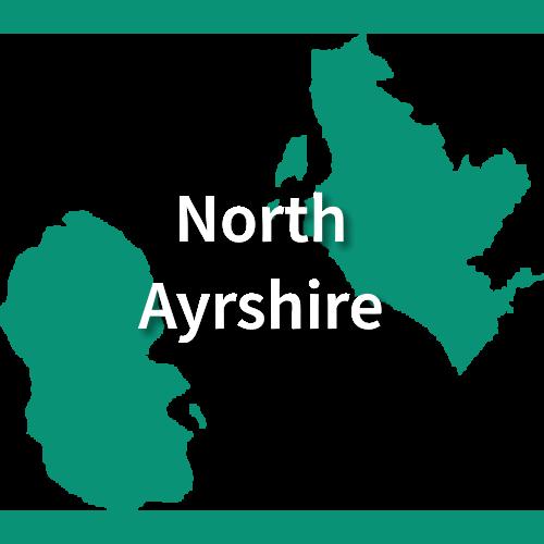 Map of North Ayrshire