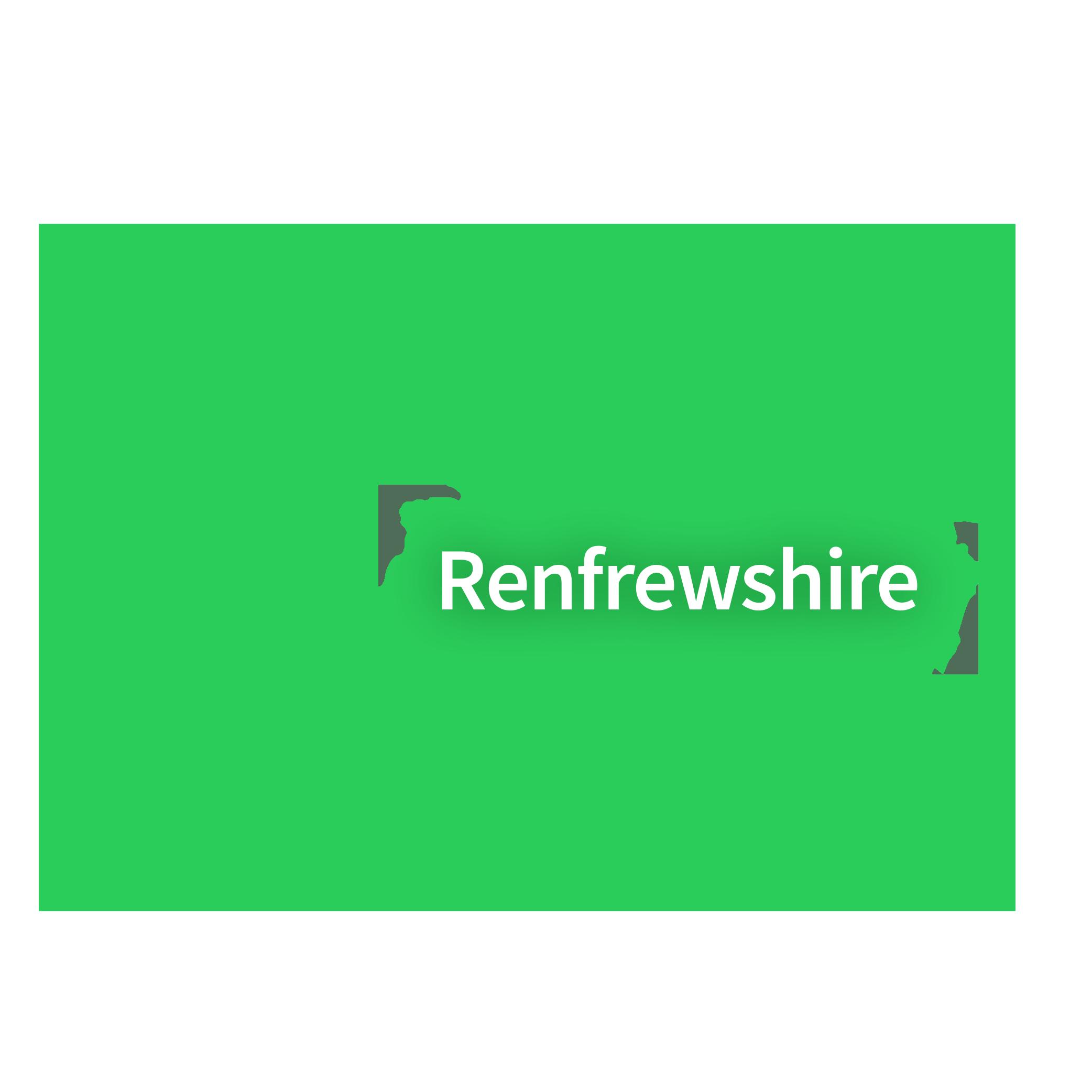 Map of Renfrewshire