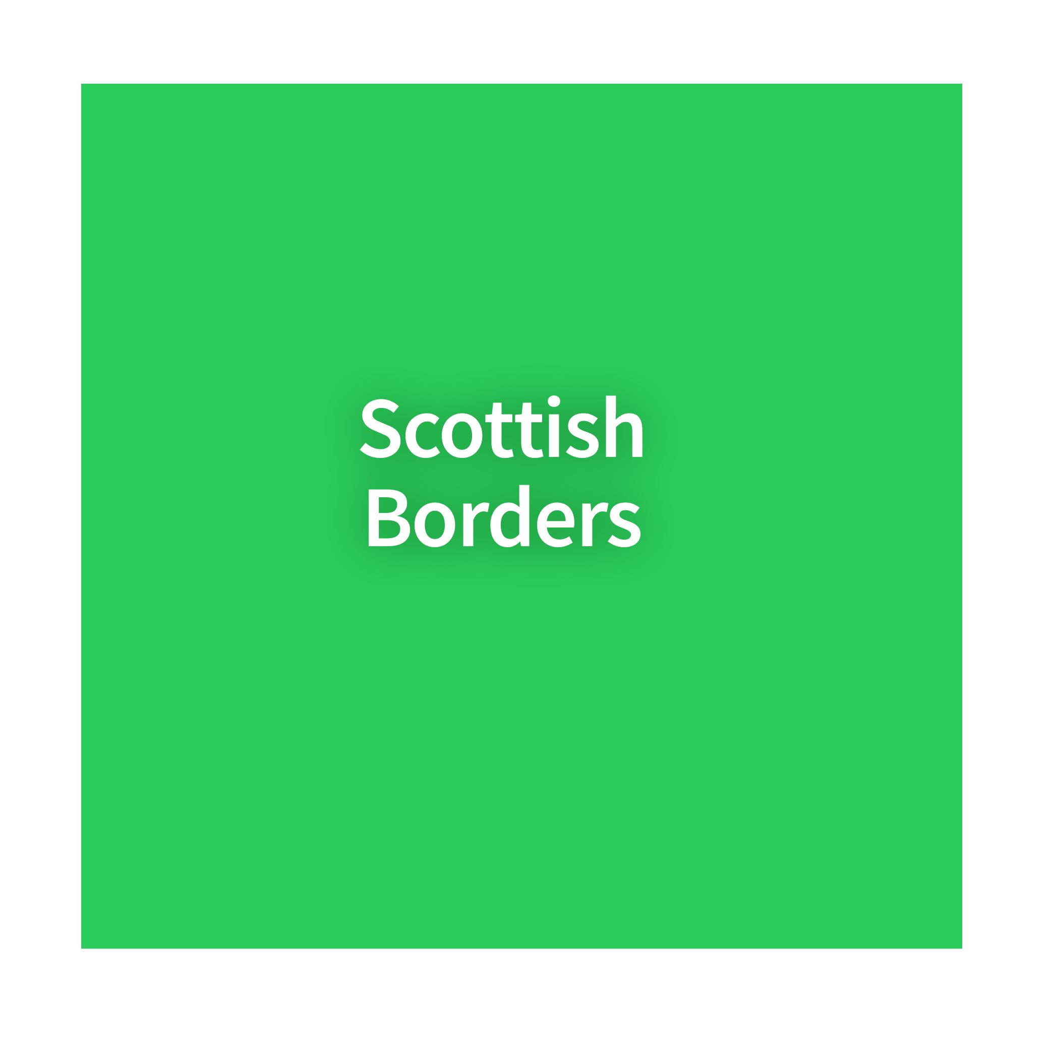 Map of Scottish Borders
