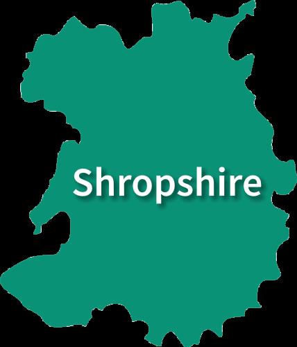 Map of Shropshire