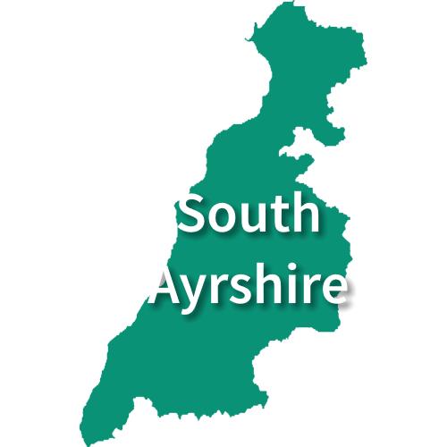 Map of South Ayrshire
