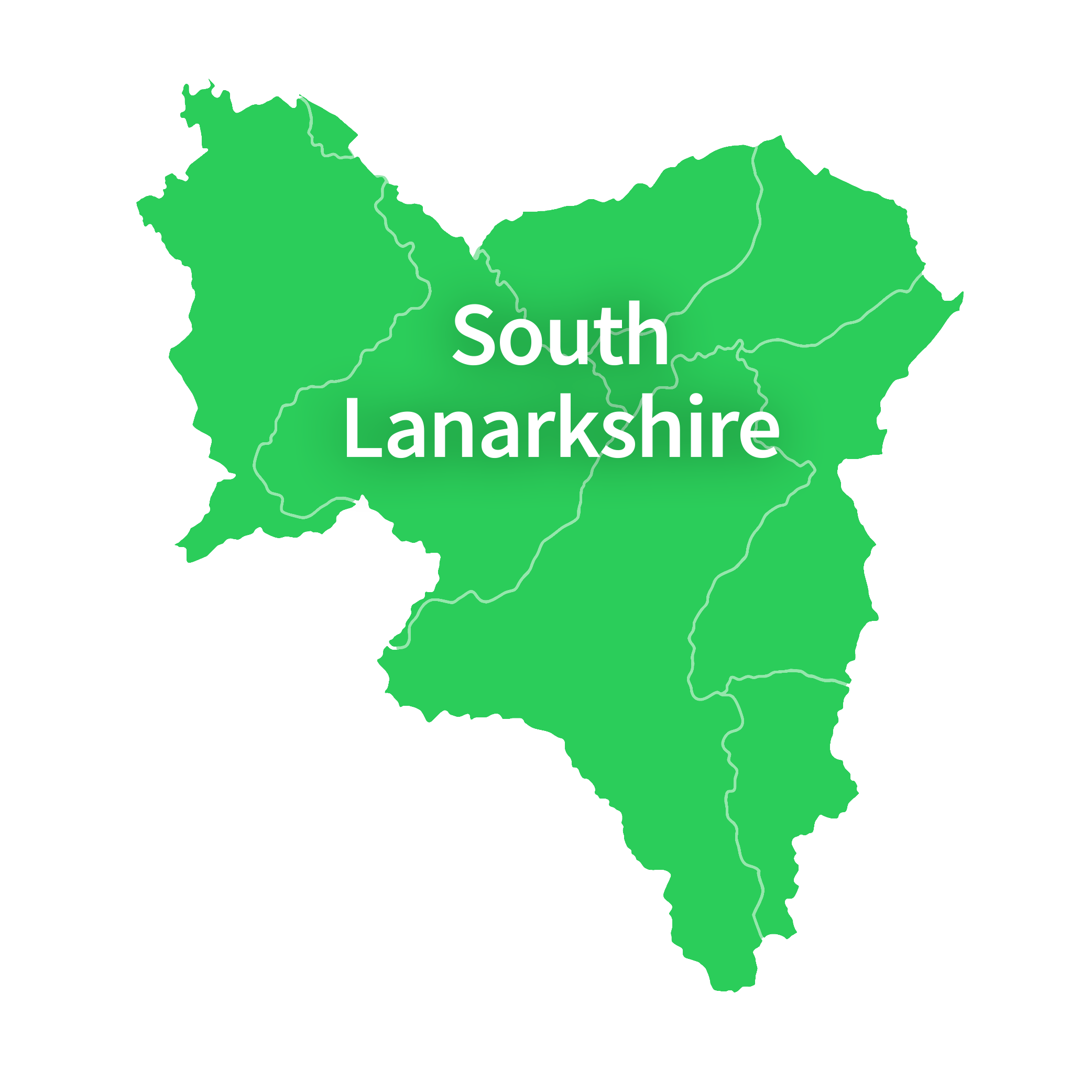Map of South Lanarkshire