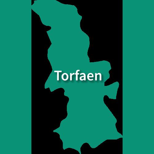 Map of Torfaen