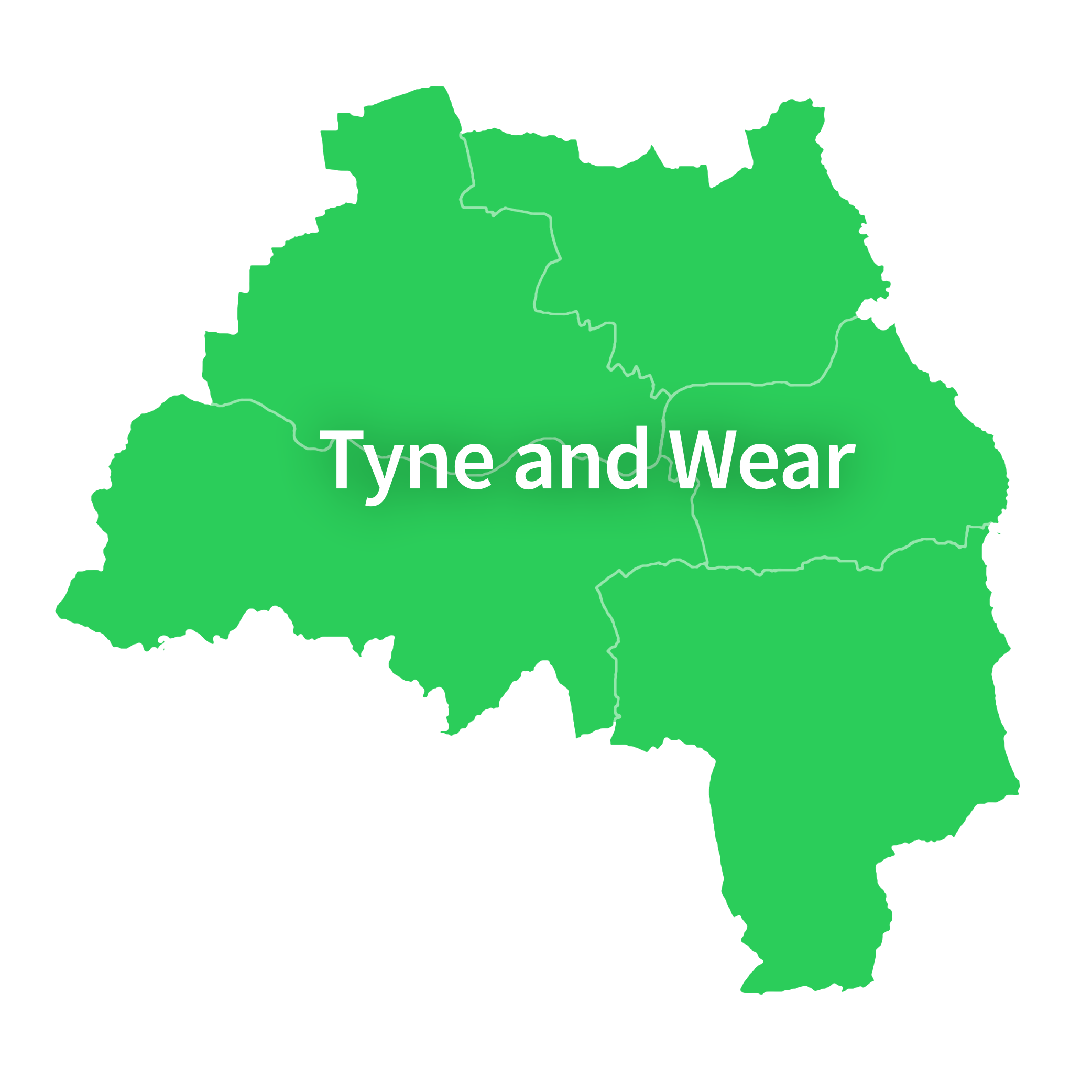 Map of Tyne and Wear