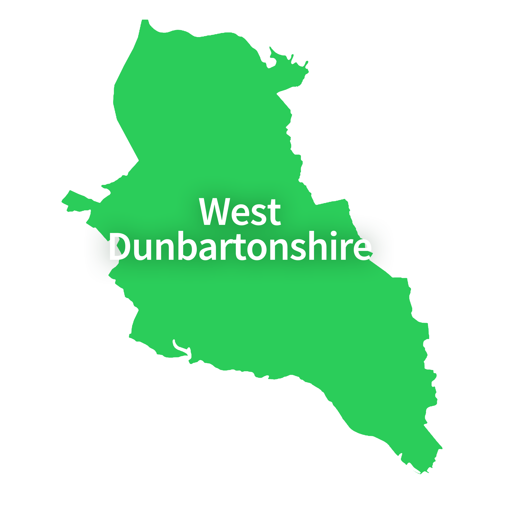 Map of West Dunbartonshire