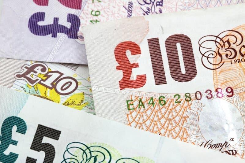 Banknotes close up