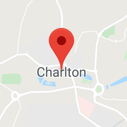 Cropped Google Map with pin over Charlton