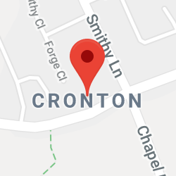 Cropped Google Map with pin over Cronton