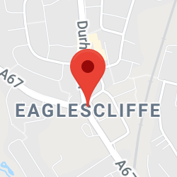 Cropped Google Map with pin over Eaglescliffe