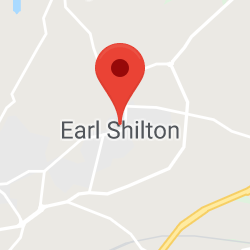 Cropped Google Map with pin over Earl Shilton