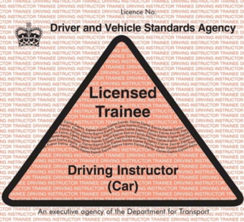 Licensed trainee driving instructor badge
