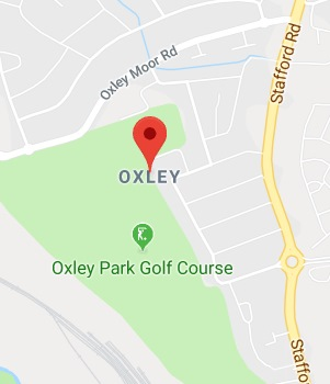 Cropped Google Map with pin over Oxley