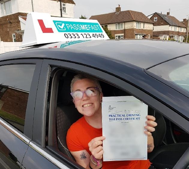 Pass photo of PassMeFast student Emily - Merseyside