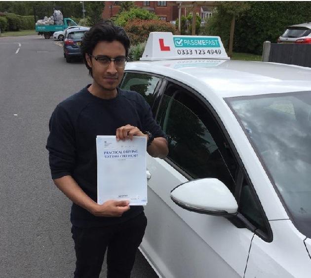 Pass photo of PassMeFast student Hamza - West Midlands